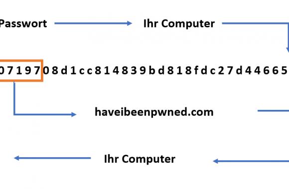 Schematischer Ablauf des Passwortchecks von 143bis.ch